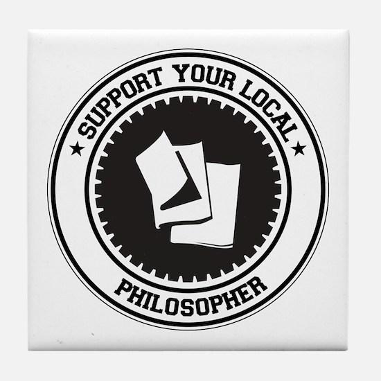 Support Philosopher Tile Coaster
