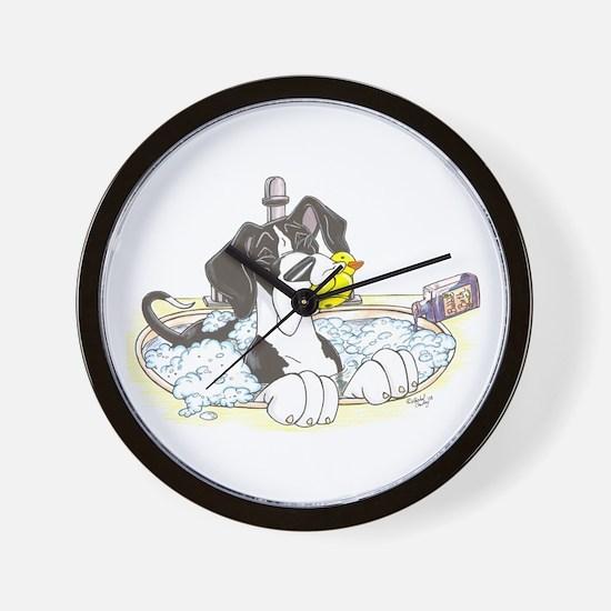 NMtl Sink Puppy Wall Clock