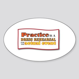 Practice Oval Sticker