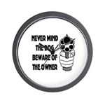 Never Mind The Dog Wall Clock