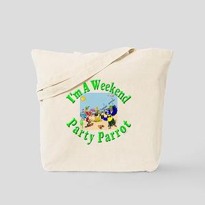 Weekend Parrot Tote Bag