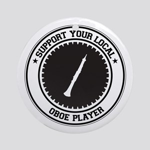 Support Oboe Player Ornament (Round)