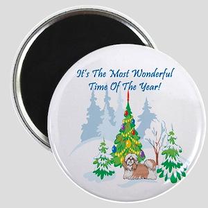 Christmas Time Shih Tzu Magnet