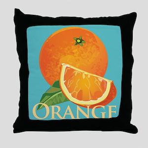 Orange and Orange Slice Throw Pillow