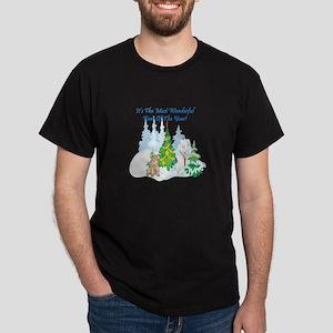 Christmas Time Shar Pei Dark T-Shirt