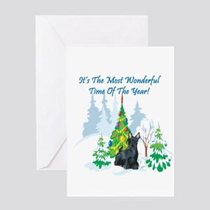 Christmas Time Scottie Greeting Card