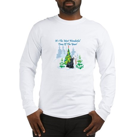 Christmas Time Scottie Long Sleeve T-Shirt