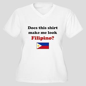 Make Me Look Filipino Women's Plus Size V-Neck T-S