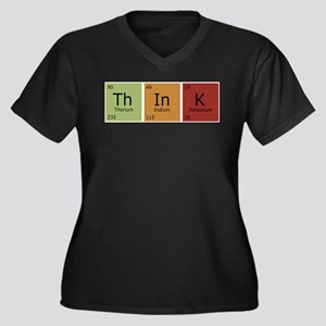 3-think2 Plus Size T-Shirt