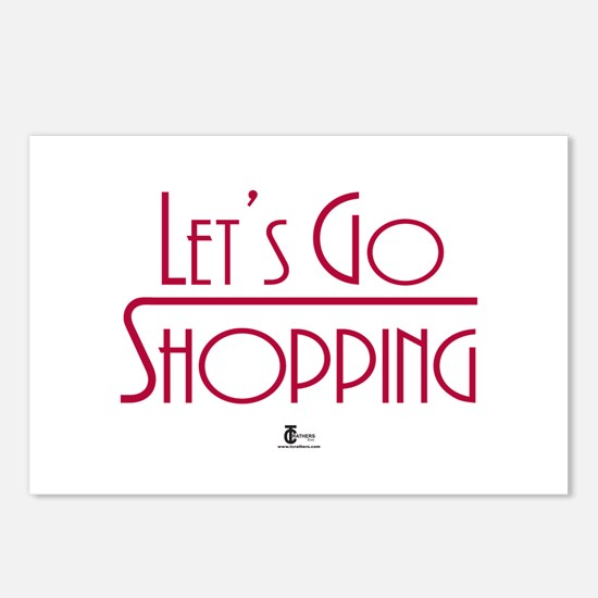 Let's Go Shopping Postcards (Package of 8)