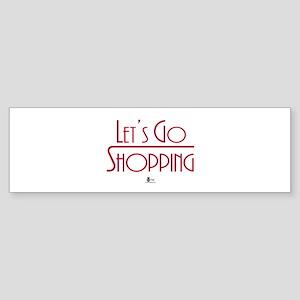 Let's Go Shopping Bumper Sticker (50 pk)
