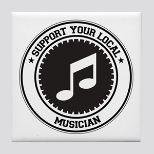 Support Musician Tile Coaster