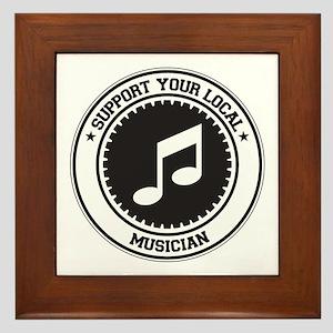 Support Musician Framed Tile