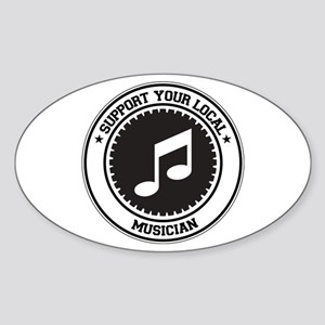 Support Musician Oval Sticker