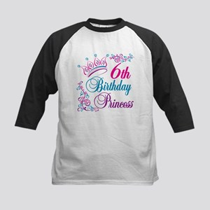 6th Birthday Princess Kids Baseball Jersey