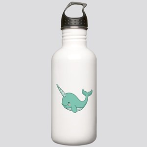 Happy Narwhal green Stainless Water Bottle 1.0L