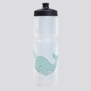 Happy Narwhal green Sports Bottle