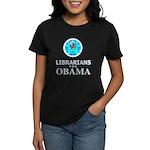 Librarians for Obama Women's Dark T-Shirt