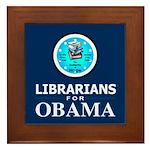 Librarians for Obama Framed Tile