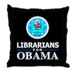 Librarians for Obama Throw Pillow