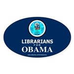 Librarians for Obama Oval Sticker (10 pk)