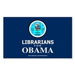 Librarians for Obama Rectangle Sticker 10 pk)