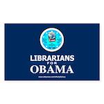 Librarians for Obama Rectangle Sticker 50 pk)