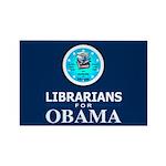 Librarians for Obama Rectangle Magnet