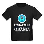 Librarians for Obama Kids Dark T-Shirt