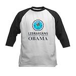 Librarians for Obama Kids Baseball Jersey