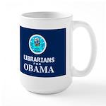 Librarians for Obama Dark Large Mug