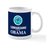Librarians for Obama Dark Mug