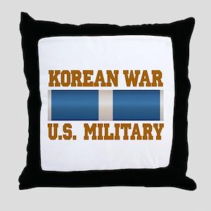 Korean War Service Ribbon Throw Pillow