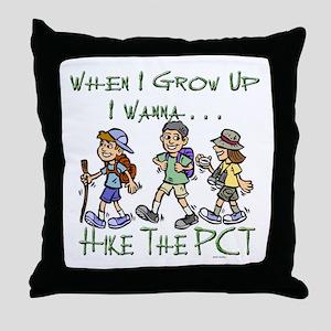 Hike PCT Throw Pillow