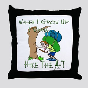 Hike A-T 2 Throw Pillow