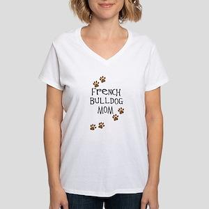 French Bulldog Mom Women's V-Neck T-Shirt