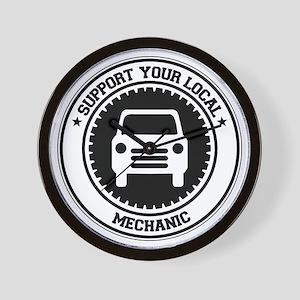 Support Mechanic Wall Clock