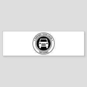 Support Mechanic Bumper Sticker
