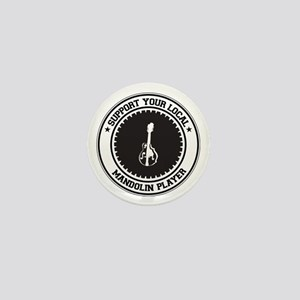Support Mandolin Player Mini Button