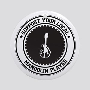 Support Mandolin Player Ornament (Round)