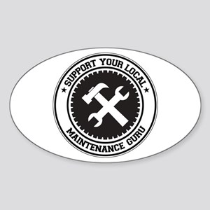 Support Maintenance Guru Oval Sticker