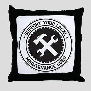 Support Maintenance Guru Throw Pillow