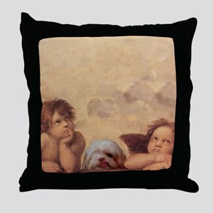 Shih Tzu Fine Art Tiger Throw Pillow