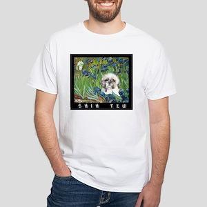 Shih Tzu Fine Art Samson White T-Shirt