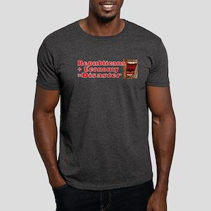 Republicans + Economy = Disas Dark T-Shirt