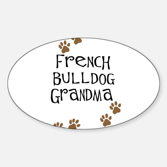 French Bulldog Grandma Oval Decal