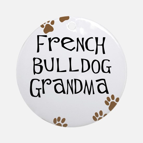 French Bulldog Grandma Ornament (Round)