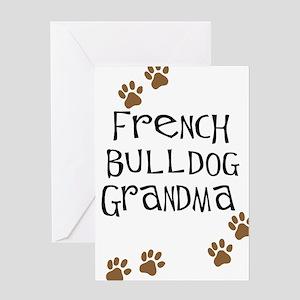 French Bulldog Grandma Greeting Card