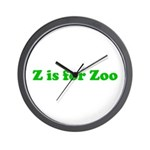 Z is for Zoo Wall Clock