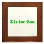 Z is for Zoo Framed Tile